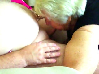 85 year old granny sucking younger guy to orgasm
