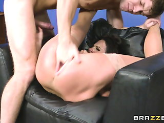 Milf Ariella ferrera analized and gets facial by young stud