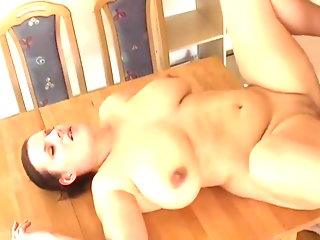 Horny amateur wife filled up with cum