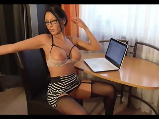 German slut in the glasses. Anal sex