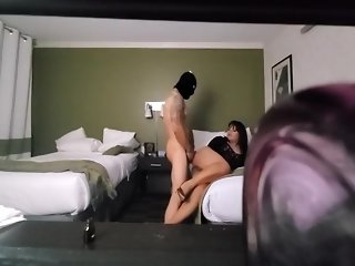 Shemale girl escort fucking with client in Miami