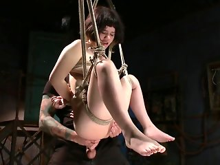Asian Teen Gets Tied Up And Fucked