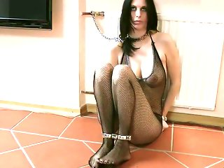 Sexy woman handcuffed to the radiator (Part 1/2)