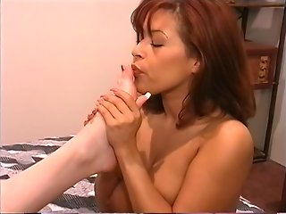 Stunning Latina MILFs playing some lesbian sex games with their hot feet