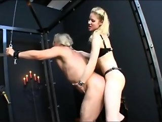 Cruel Blonde German Mistress