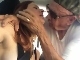 My sexy girlfriend with an old man