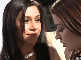 Ann Marie Rios and Raylene decided to make love with each other in a small studio